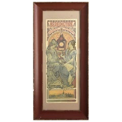 Vintage 1900 Poster Advertising Benedictine by A. Mucha