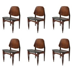 Vintage 1960s Modernist Set of 6 Chairs Italian Design by Fratelli Proserpio