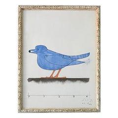 "Vintage 1970s Original Signed and Numbered Lalanne Lithography ""L'oiseau Bleu"""