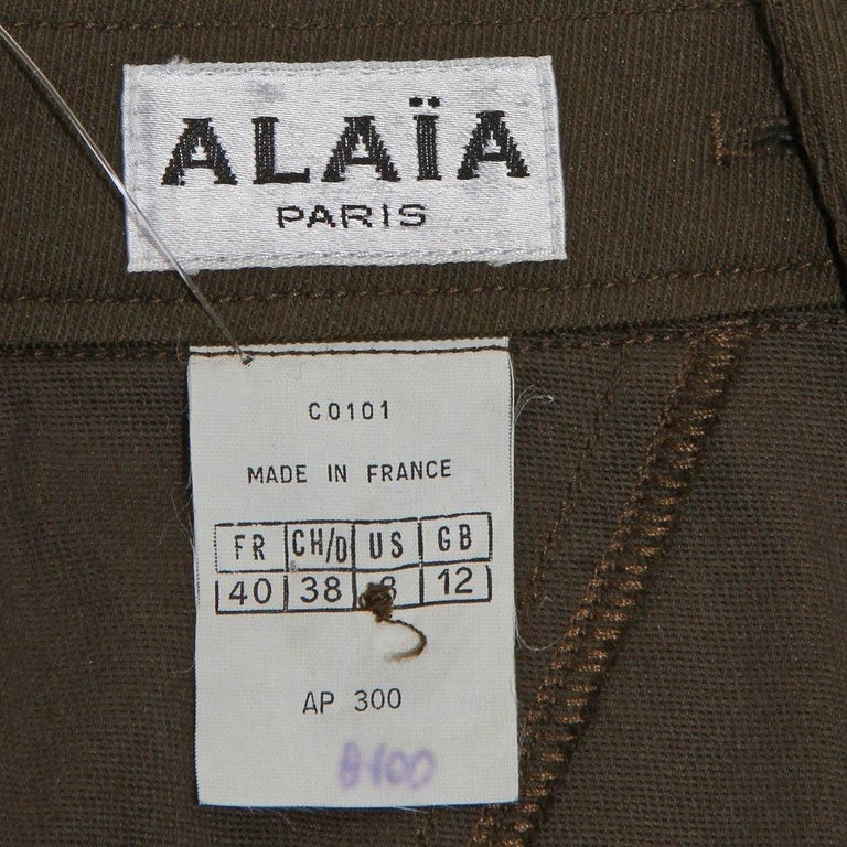 Vintage Alaia Skirt In Good Condition For Sale In Los Angeles, CA