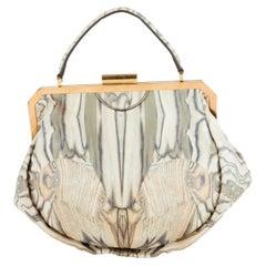Vintage Alexander McQueen Leather Butterfly Printed Handbag