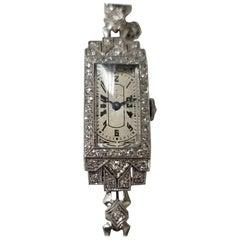 Vintage Art Deco Palladium Diamond Watch