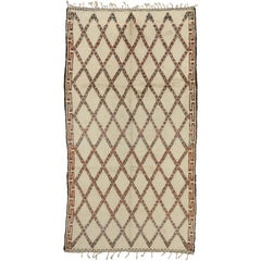 Vintage Beni Ourain Moroccan Rug with Modern Bauhaus Style and Hygge Vibes