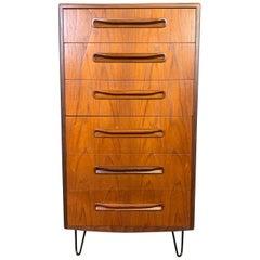 Vintage British Mid-Century Modern Teak Highboy Dresser by G Plan