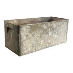 Vintage Cement Planter Signed JM 145