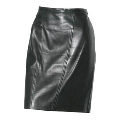 Vintage Chanel Leather Skirt