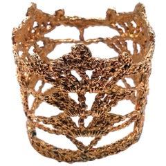 Vintage Christian LaCroix Intricate Openwork Cuff Bracelet