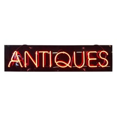 "Vintage Custom Neon ""Antiques"" Sign"