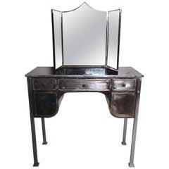 Vintage Industrial Vanity with Mirror