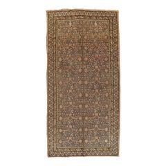 Vintage Khotan Rug, Handmade Oriental Rug, Soft shrimp, Beige, Brown, Char Gray