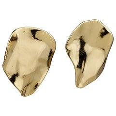Vintage Massive YVES SAINT LAURENT Ysl Asymmetric Earrings