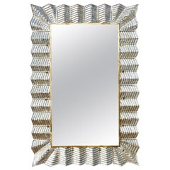 Vintage Mirror with Murano Glass Frame