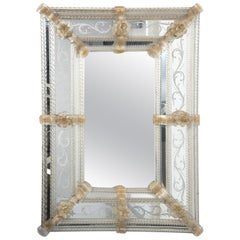 Vintage Murano Glass Mirror, Early 20th Century