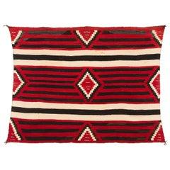 Vintage Navajo Chief's Blanket, Third Phase Pattern, circa 1900