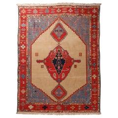 Vintage Persian Serapi Tribal Wool Carpet, 20th Century