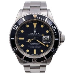Vintage Rolex Submariner 16800 Stainless Black Dial 1982