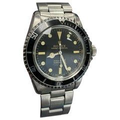 Vintage Rolex Submariner 5512 Stainless Steel Black Dial 1964 Glossy Dial