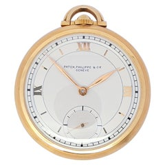 Vintage Slimline Patek Philippe Pocket Watch 18 Karat Gold
