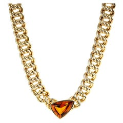 Vintage Tiffany & Co. Paloma Picasso Citrine Necklace in 18 Karat Yellow Gold