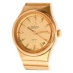 Vintage Zenith Defy Surf 18 Karat Gold Deluxe Automatic Watch