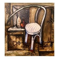 Vitaly Dlugy White Chair, 1989 Oil on Canvas