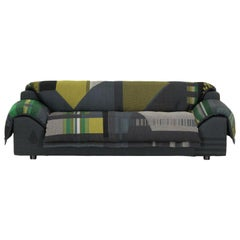 Vitra Vlinder Sofa in Dark Green Shades by Hella Jongerius