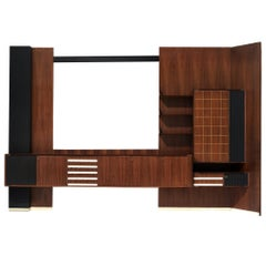 Vittorio Dassi Italian Wall Unit in Walnut