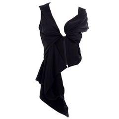Vivienne Westwood Red Label Avant Garde Black Draped Corset Top