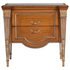 W048/NT Italian Nightstand Inlaid in Citronnier and Myrtle Briarwood by Zanaboni