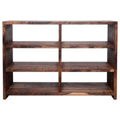 Walker Bookcase - Natural Wood Media Center
