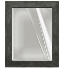 Rectangular Wall mirror artistic black ecological shagreen decoration frame