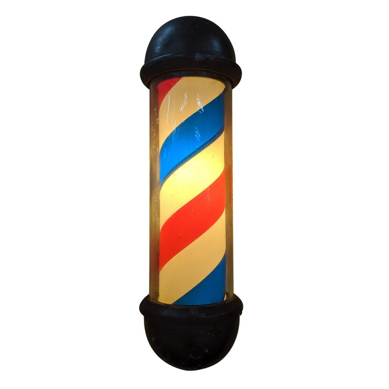 Wall Mounted Barber's Pole For Sale