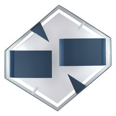 Wall Sconce Screen of Light Design Gio Ponti Limited Edition Varnished Blue