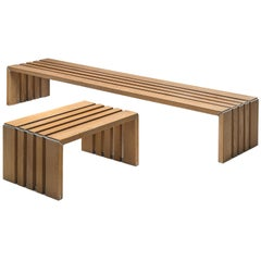 Walter Antonis Set of Slat Benches in Ash for 't Spectrum