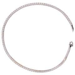 White Gold and Diamond Straightline Diamond Collar Necklace