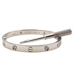 Cartier Love White Gold 4-Diamond Bracelet
