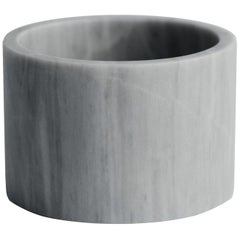 White Marble Small Cylinder