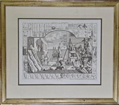 "Set of Two 18th Century Engravings from William Hogarth's ""Analysis of Beauty"""