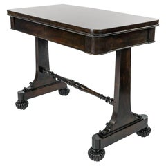 William IV Mahogany Side Table, circa 1835, Signed Gillows of Lancaster