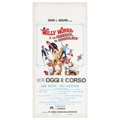 Willy Wonka & the Chocolate Factory 1971 Italian Locandina Film Poster