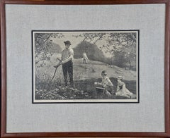 "A Winslow Homer 19th Century Woodcut Engraving ""Making Hay"""
