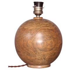 Wood Bowl Table Lamp