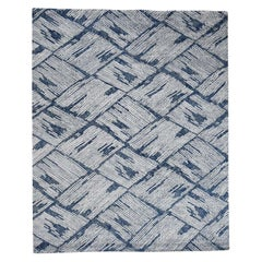 Wool and Silk Hi and Low Pile Hand Knotted Oriental Rug