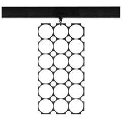 WYETH Original Perforated Metal Screen / Room Divider in Blackened Steel