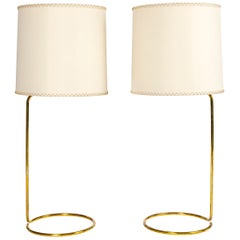 WYETH Original Tall 'Rope' Table Lamp in Polished Bronze