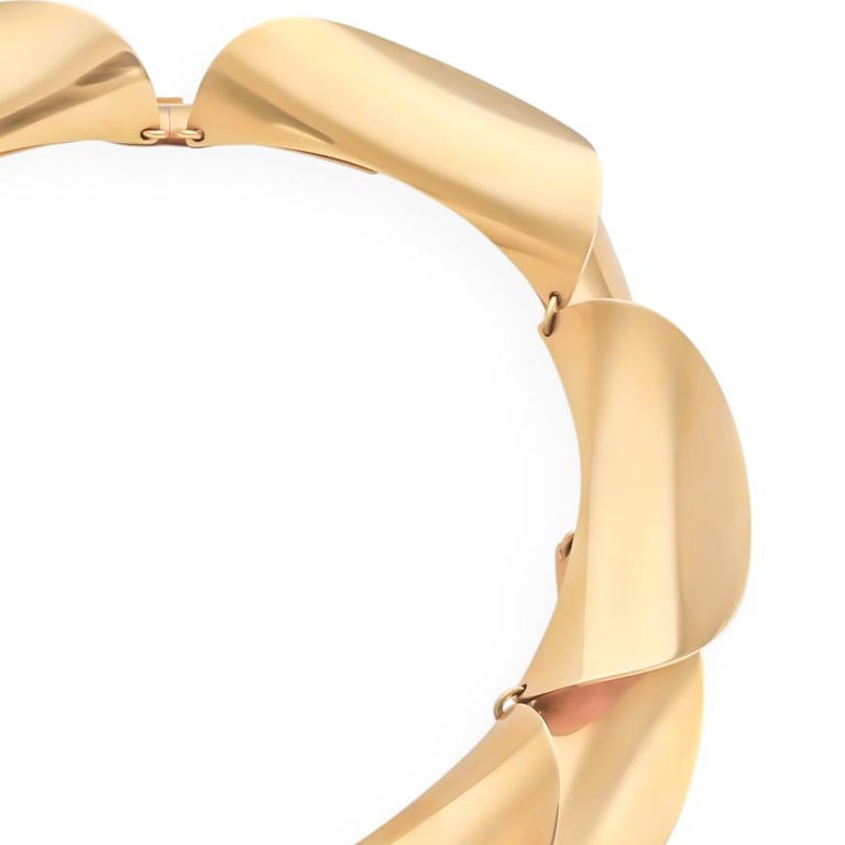 Yellow Gold Vintage 1958 Necklace, by Georg Jensen In Good Condition For Sale In Dallas, TX