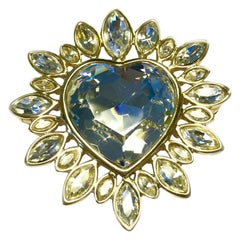 YVES SAINT LAURENT Heart Brooch