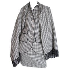 Yves Saint Laurent Rive Gauche 4 Piece Herringbone Suit