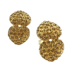 YVES SAINT LAURENT Vintage Gold Metal Earrings