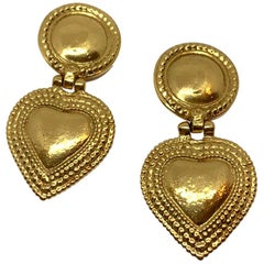 YVES SAINT LAURENT Vintage Heart Clip-on Earrings
